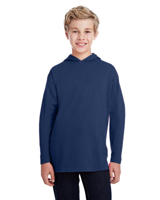 Picture of Anvil 987B Youth Long-Sleeve HoodedT-Shirt