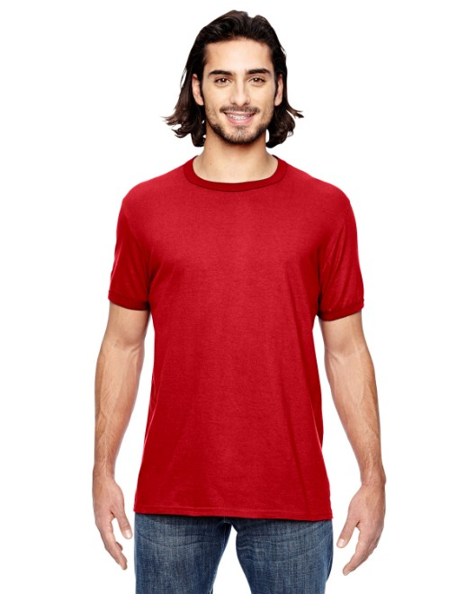 Picture of Anvil 988AN Adult Lightweight Ringer T-Shirt