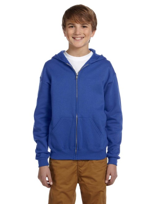 Picture of Jerzees 993B Youth 8 oz. NuBlend Fleece Full-Zip Hood