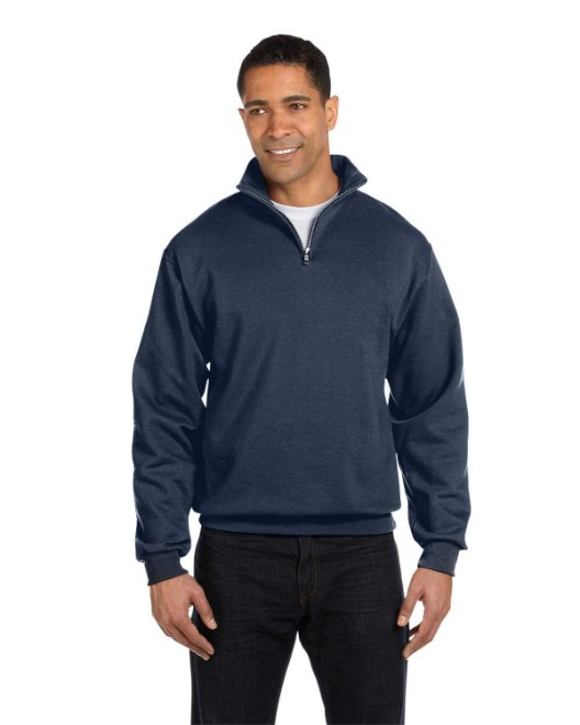 Picture of Jerzees 995M Adult 8 oz. NuBlend Quarter-Zip Cadet Collar Sweatshirt