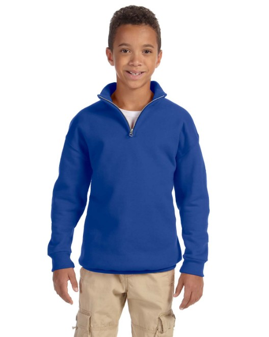 Picture of Jerzees 995Y Youth 8 oz. NuBlend Quarter-Zip Cadet Collar Sweatshirt