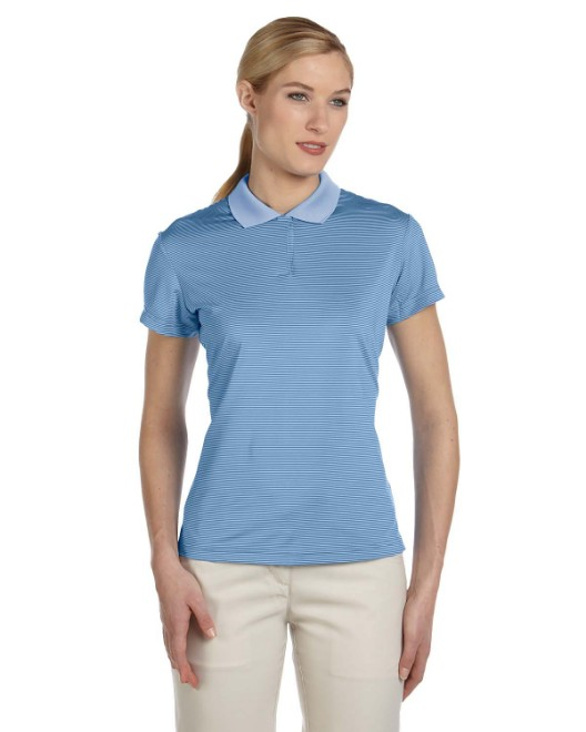 Picture of adidas Golf A120 Womens climalite Classic Stripe Short-Sleeve Polo