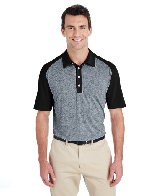 Picture of adidas Golf A145 Men's Heather Block Polo