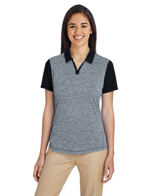 Picture of adidas Golf A146 Womens Heather Block Polo