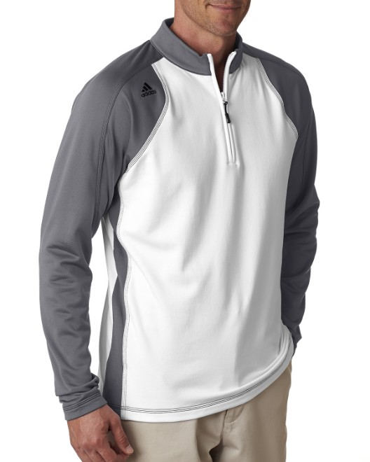 Picture of adidas Golf A276 Men's climawarm+ 3-Stripes Colorblock Quarter-Zip Training Top