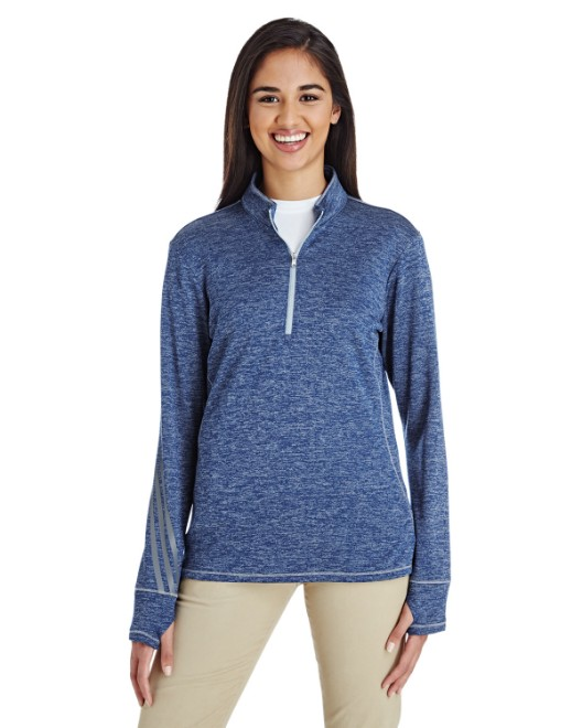 Picture of adidas Golf A285 Womens 3-Stripes Heather Quarter-Zip