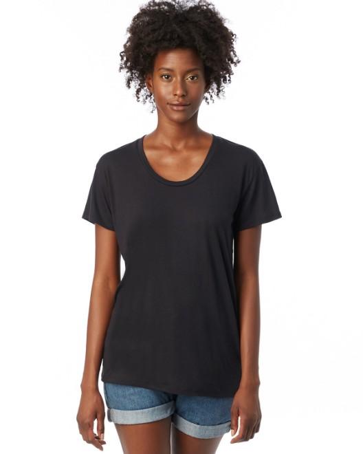 Picture of Alternative AA2620 Womens Kimber Melange Burnout T-Shirt