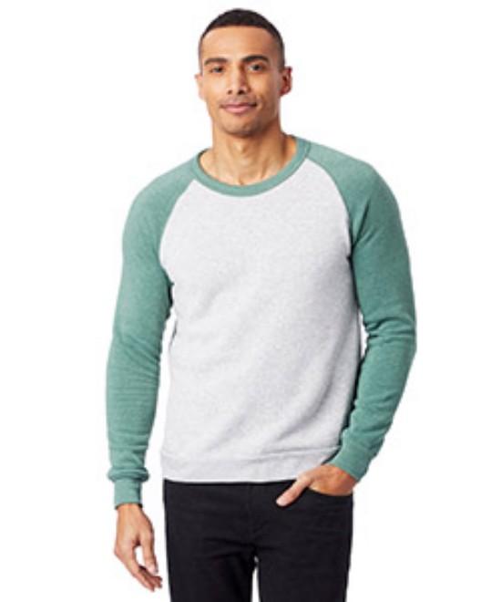 Picture of Alternative AA3202 Unisex Champ Eco-Fleece Colorblocked Sweatshirt