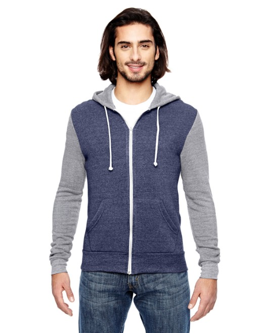 Picture of Alternative AA3203 Unisex Rocky Eco-Fleece Colorblocked Hoodie