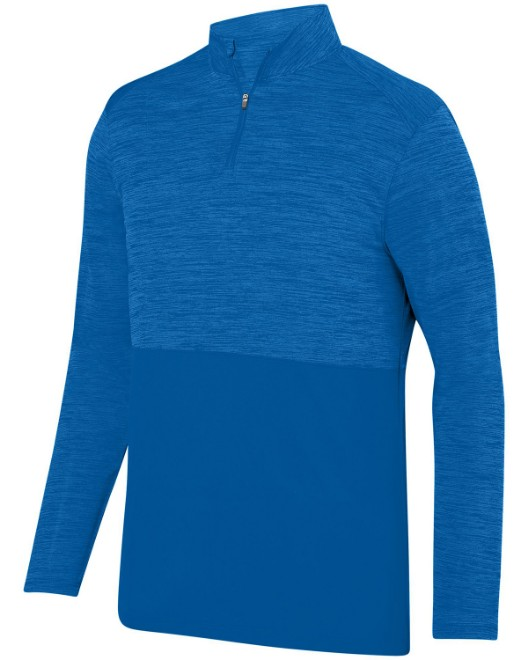 Picture of Augusta Sportswear AG2908 Adult Shadow Tonal Heather Quarter-Zip Pullover