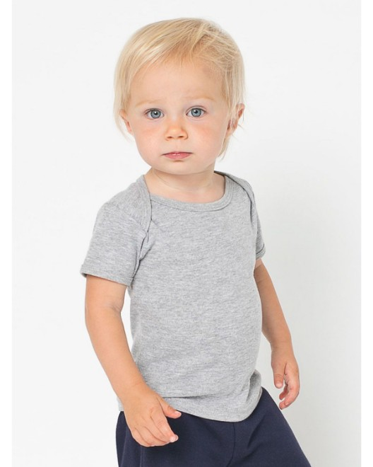 Picture of American Apparel AM4000W Infant Baby Rib Short-Sleeve Lap T-Shirt