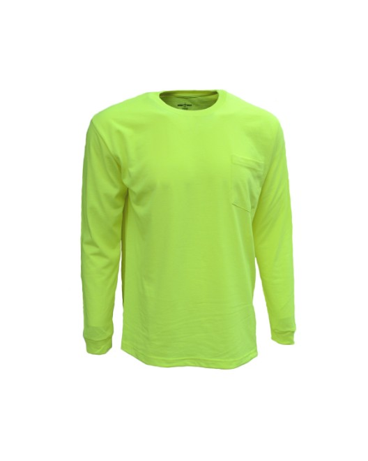 Picture of Bright Shield B146 Adult Long-Sleeve Pocket Tee