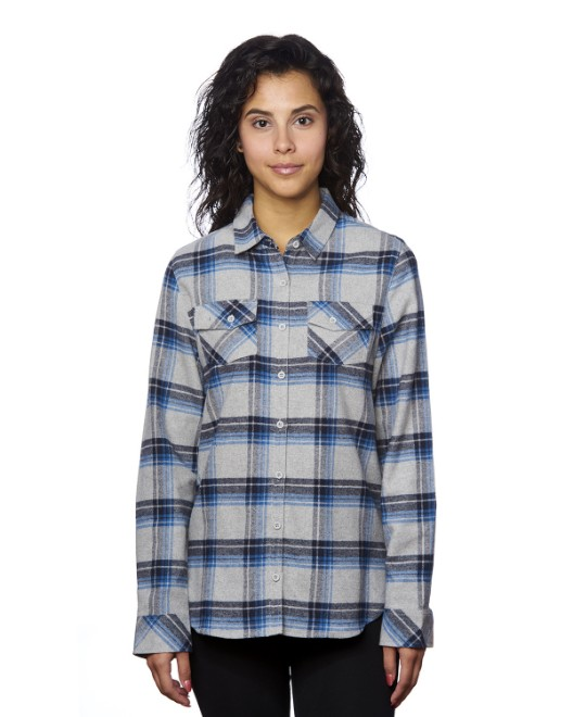 Picture of Burnside B5210 Womens Plaid Boyfriend Flannel Shirt