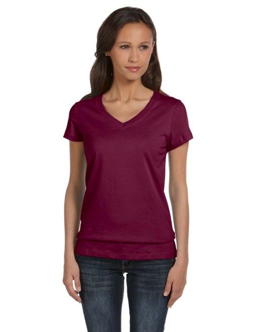 Picture of Bella + Canvas B6005 Womens Jersey Short-Sleeve V-Neck T-Shirt