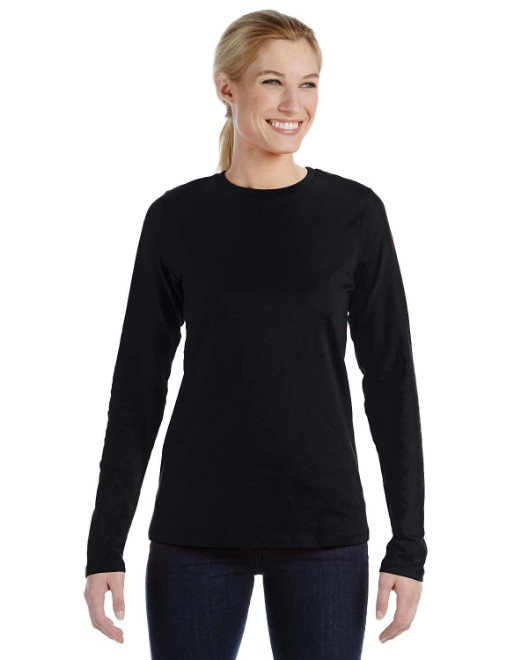 Picture of Bella + Canvas B6450 Womens Relaxed Jersey Long-Sleeve T-Shirt