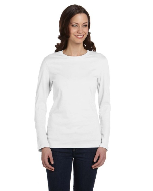 Picture of Bella + Canvas B6500 Womens Jersey Long-Sleeve T-Shirt