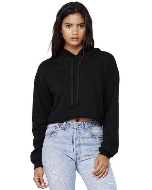 Picture of Bella + Canvas B7502 Womens Cropped Fleece Hoodie
