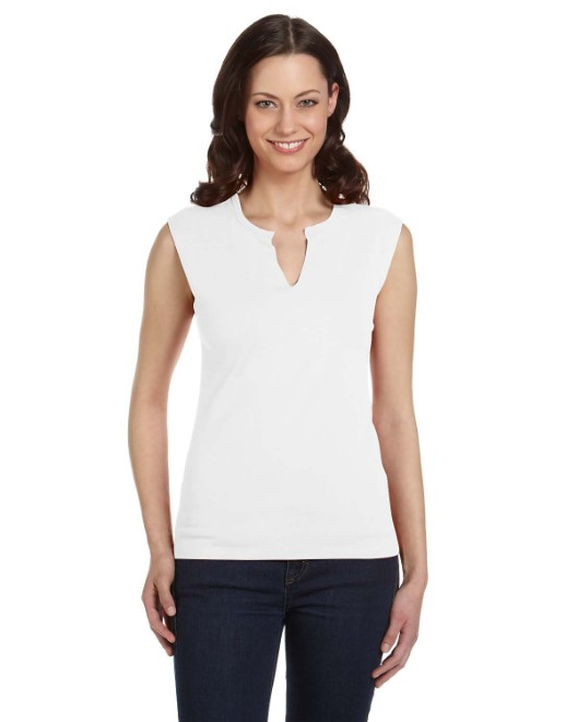 Picture of Bella + Canvas B820 Womens Cotton/Spandex Slit-V Raglan T-Shirt