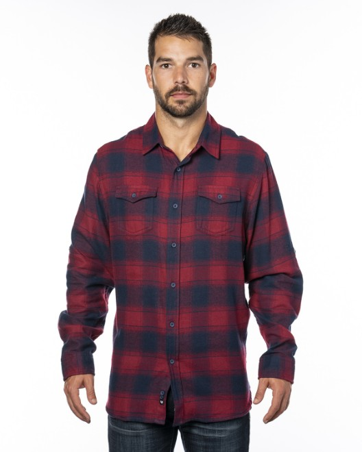 Picture of Burnside B8210 Men's Plaid Flannel Shirt