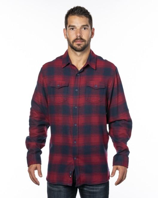 Picture of Burnside B8210 Men's Plaid Flannel Shirt