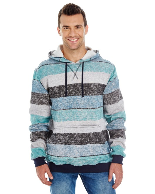 Picture of Burnside B8603 Men's Printed Stripe Marl Pullover