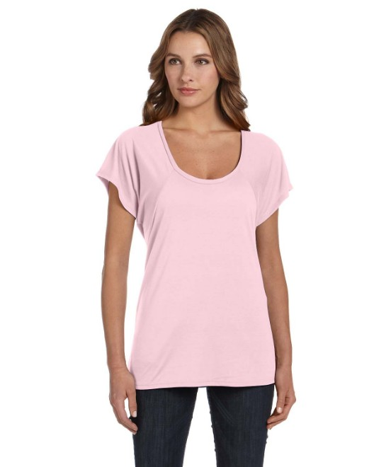 Picture of Bella + Canvas B8801 Womens Flowy Raglan T-Shirt