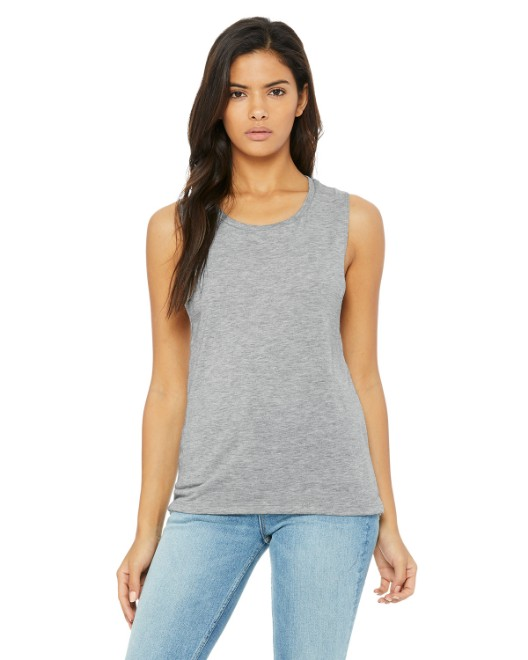 Picture of Bella + Canvas B8803 Womens Flowy Scoop Muscle Tank