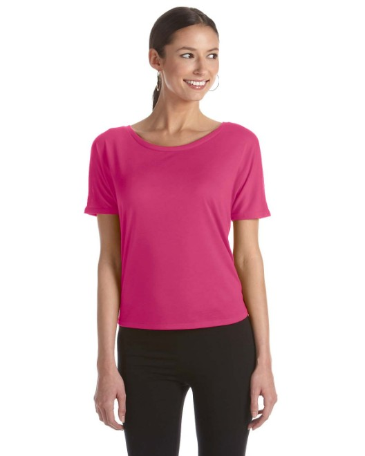Picture of Bella + Canvas B8871 Womens Flowy Open Back T-Shirt