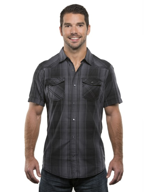 Picture of Burnside B9206 Men's Plaid Pattern Western Woven