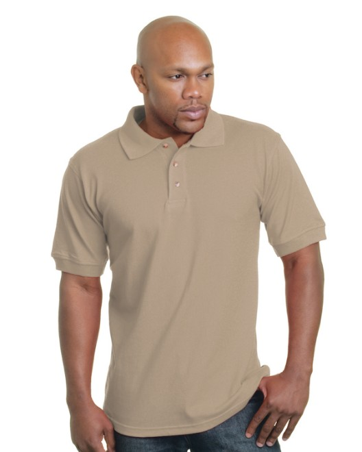 Picture of Bayside BA1000 Adult 6.1 oz., Cotton Pique Polo