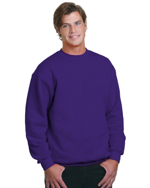 Picture of Bayside BA1102 Adult 9.5 oz., 80/20 Heavyweight Crewneck Sweatshirt