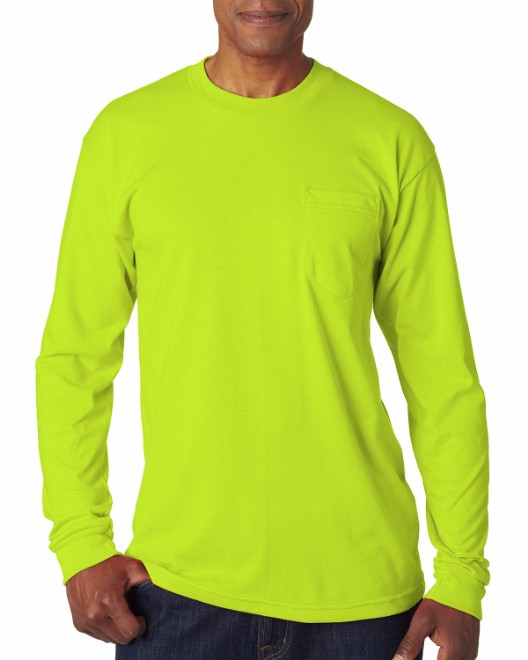 Picture of Bayside BA1730 Adult Long-Sleeve T-Shirt with Pocket