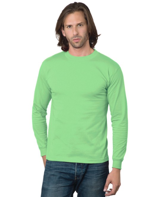 Picture of Bayside BA2955 Adult 6.1 oz., Cotton Long Sleeve T-Shirt