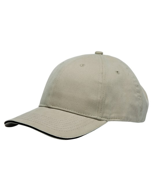 Picture of Bayside BA3617 100% Washed Cotton Unstructured Sandwich Cap