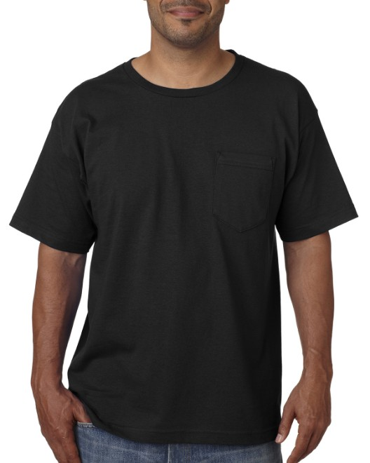 Picture of Bayside BA5070 Adult Short-Sleeve T-Shirt with Pocket