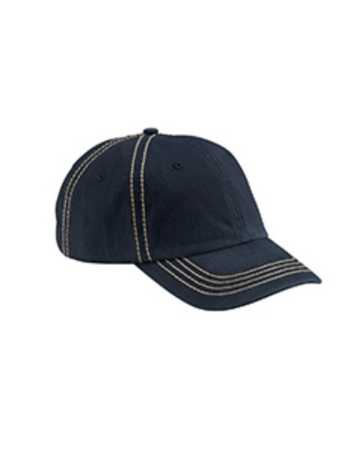 Picture of Big Accessories BA509 Contrast Thick Stitch Unstructured Cap