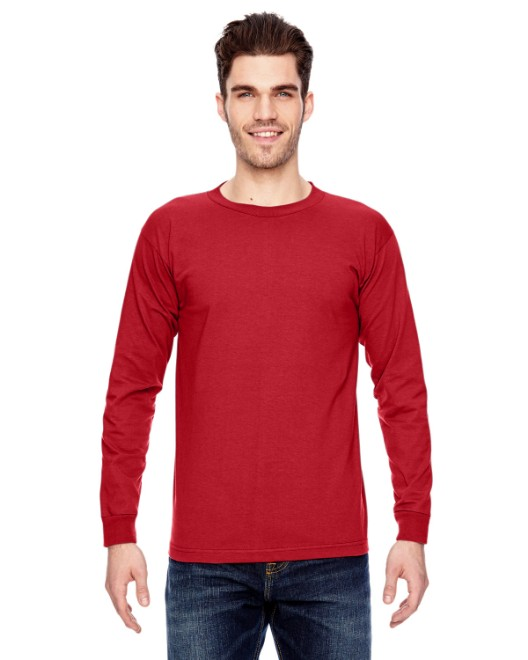 Picture of Bayside BA6100 Adult 6.1 oz., 100% Cotton Long Sleeve T-Shirt
