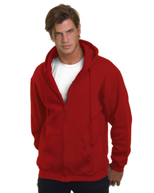 Picture of Bayside BA900 Adult  9.5oz., 80% cotton/20% polyester Full-Zip Hooded Sweatshirt