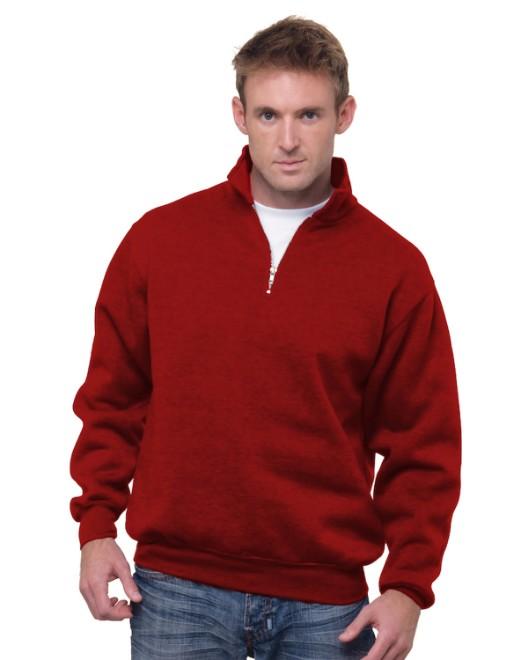 Picture of Bayside BA920 Unisex 9.5 oz., 80/20 Quarter-Zip Pullover Hooded Sweatshirt