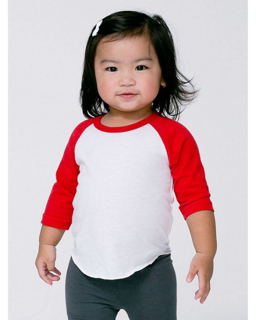 Picture of American Apparel BB053W Infant Poly-Cotton 3/4-Sleeve T-Shirt