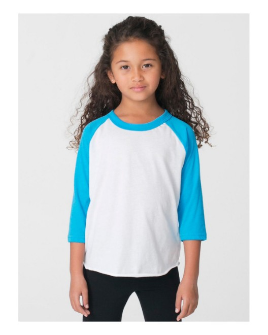 Picture of American Apparel BB153W Toddler Poly-Cotton 3/4-Sleeve T-Shirt