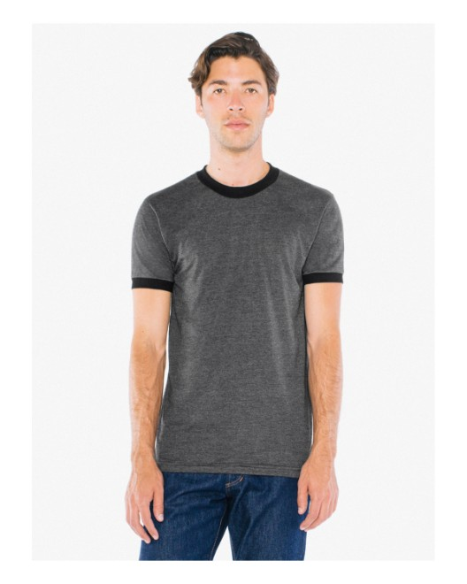 Picture of American Apparel BB410W UNISEX Poly-Cotton Short-Sleeve Ringer T-Shirt
