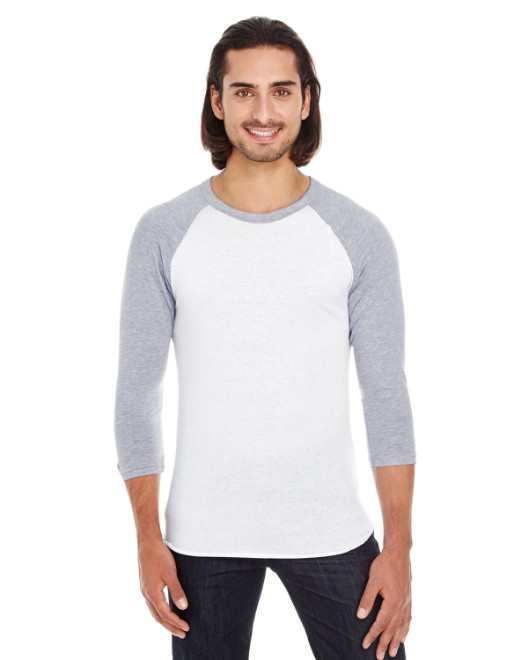 Picture of American Apparel BB453W Unisex Poly-Cotton 3/4-Sleeve Raglan T-Shirt