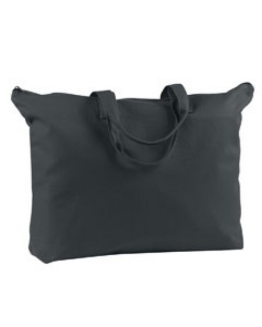 Picture of BAGedge BE009 12 oz. Canvas Zippered Book Tote