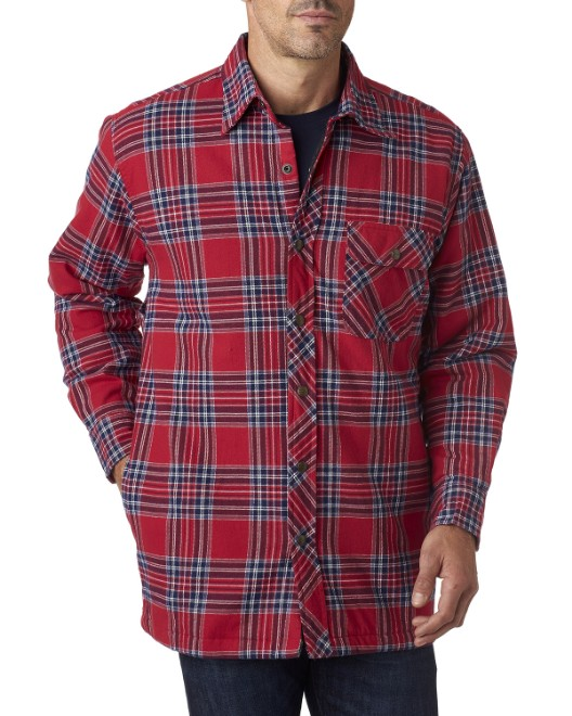 Picture of Backpacker BP7002 Men's Flannel Shirt Jacket with Quilt Lining