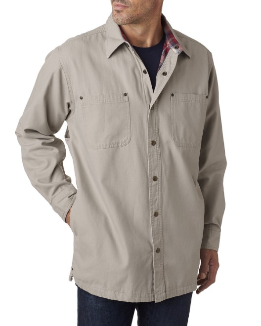 Picture of Backpacker BP7006 Men's Canvas Shirt Jacket with Flannel Lining