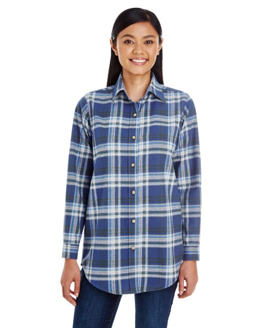 Picture of Backpacker BP7030 Womens Yarn-Dyed Flannel Shirt