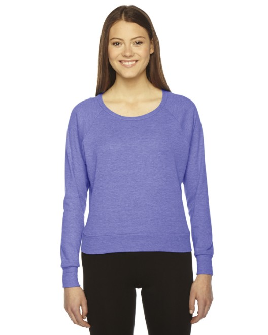 Picture of American Apparel BR394W Womens Triblend Lightweight Raglan Pullover