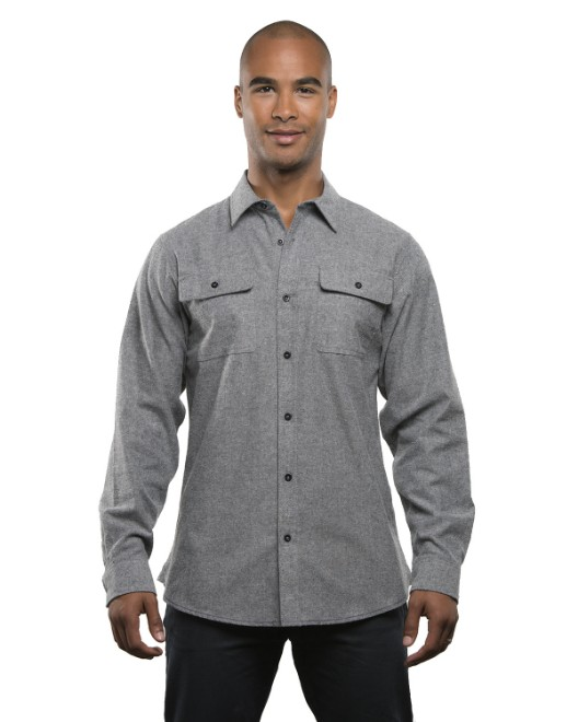 Picture of Burnside BU8200 Men's Solid Flannel Shirt