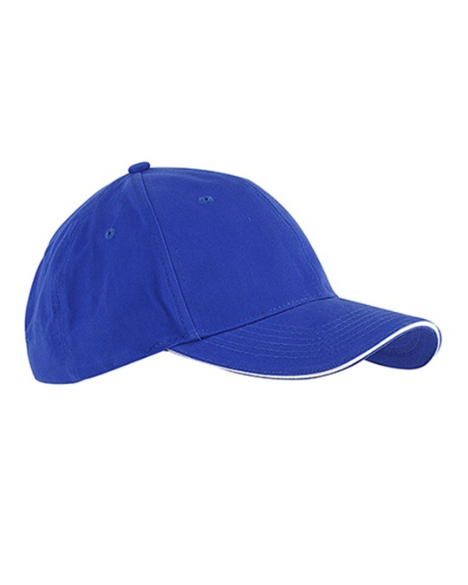 Picture of Big Accessories BX004 6-Panel Twill Sandwich Baseball Cap